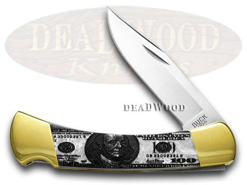 Buck 110 Custom White Pearl Corelon $100 Folding Hunter 1/400 Knives