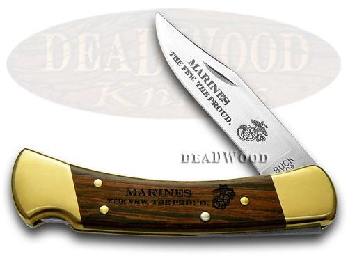 Buck 110 Folding Hunter Marines 1/500 Custom Pocket Knife Knives