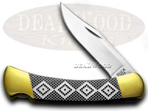 Buck 110 Custom Black Pearl Corelon Diamondback Hunter 1/400 Pocket Knife Knives