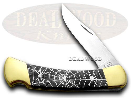 Buck 110 Custom Black Pearl Corelon Recluse 1/400 Pocket Knife Knives