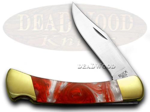 Buck 110 Custom Fire Feathers Corelon Folding Hunter Pocket Knife Knives