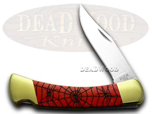 Buck 110 Custom Red Pearl Corelon Recluse 1/400 Pocket Knife Knives