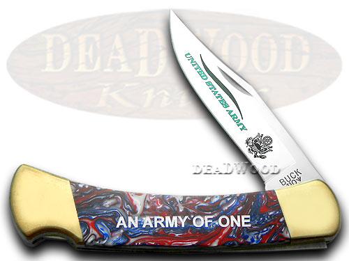 Buck 110 Custom Star Spangled Corelon Army Folding Hunter 1/400 Pocket Knives