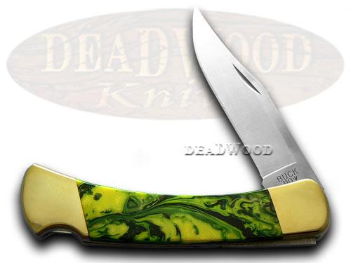 Buck 110 Custom Bird of Paradise Corelon Folding Hunter Pocket Knives
