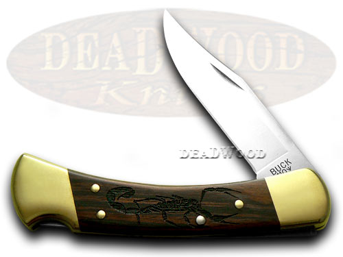 Buck 110 Scorpion Wood Folding Hunter 1/400 Custom Pocket Knife Knives