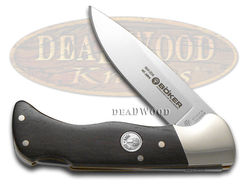 Boker Tree Brand 145th Ann. Grenadill Wood Folding Hunter 1/145 Stainless Pocket Knife Knives