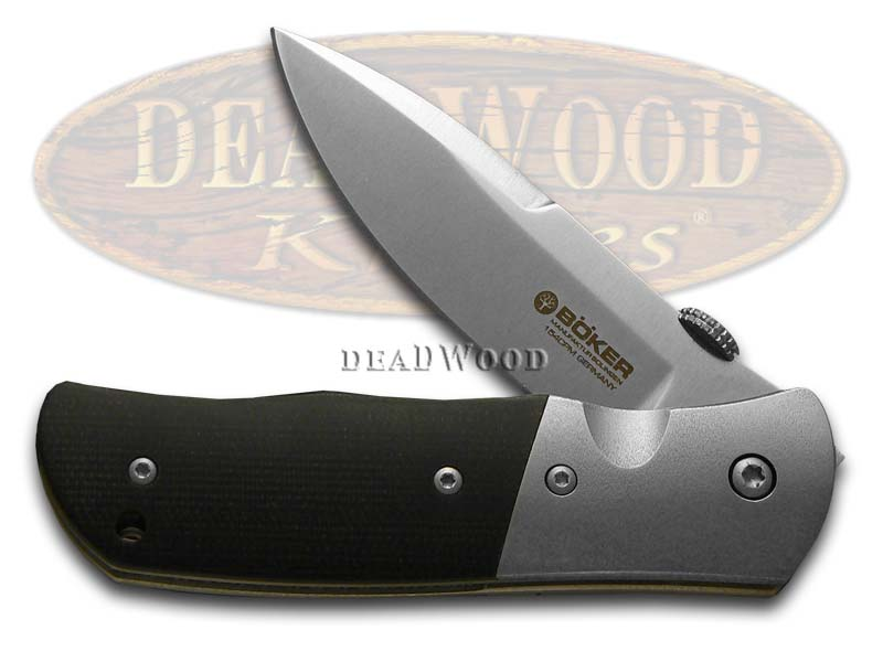 Boker Tree Brand SD 2 Black Micarta Liner Lock CPM154 Pocket Knife Knives