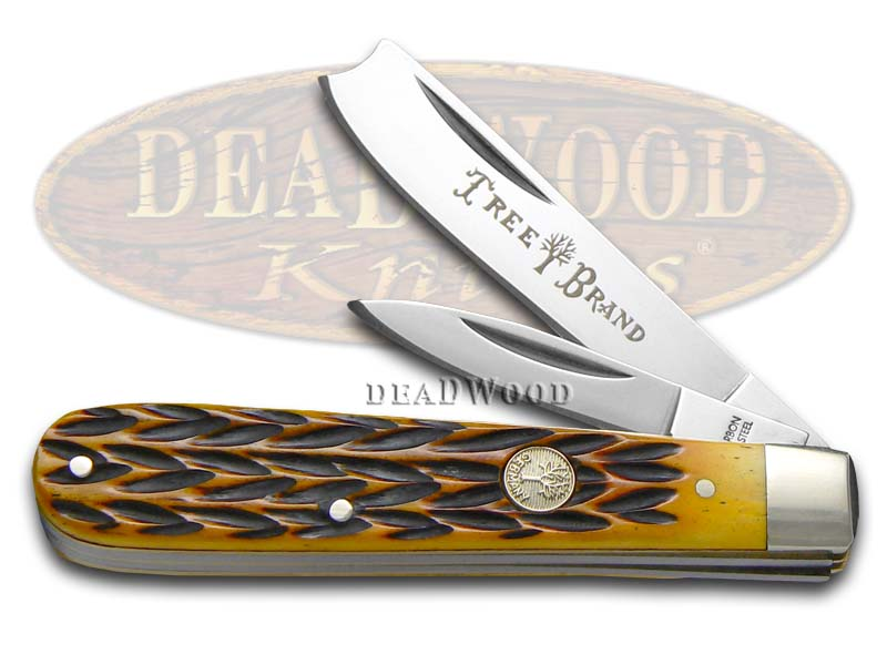 Boker Tree Brand Jigged Brown Bone Razor Jack Stainless Pocket Knife Knives