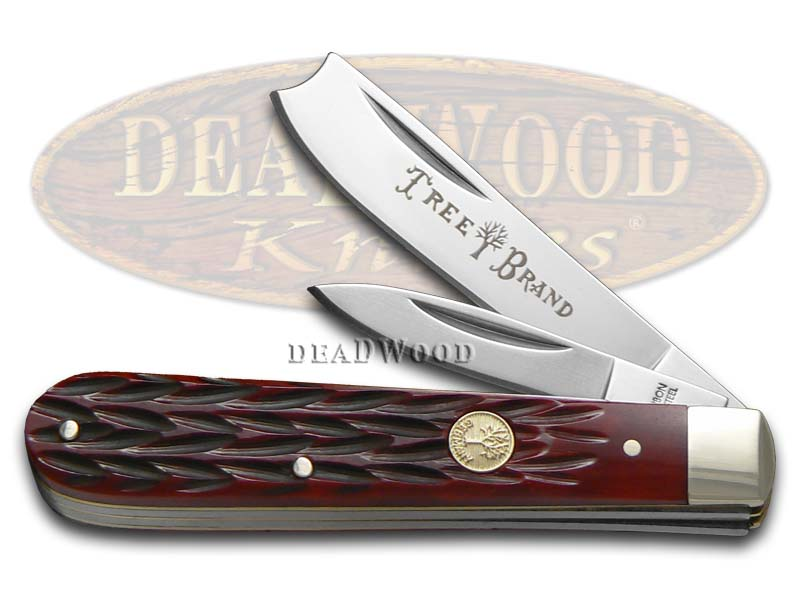 Boker Tree Brand Jigged Red Bone Razor Jack Stainless Pocket Knife Knives
