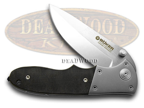 Boker Tree Brand Titan Black G-10 Liner Lock Pocket Knife Knives