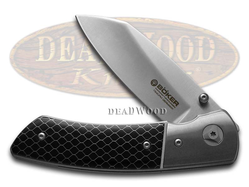 Boker Tree Brand Model 10 Collectors Grade Black Honeycomb Liner Lock CPM 154 Steel Pocket Knife