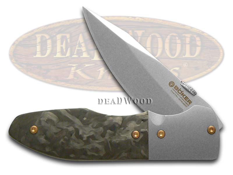 Boker Tree Brand Gent's Blitz Wild Carbon Fiber Liner Lock CPM154 Steel Pocket Knife Knives