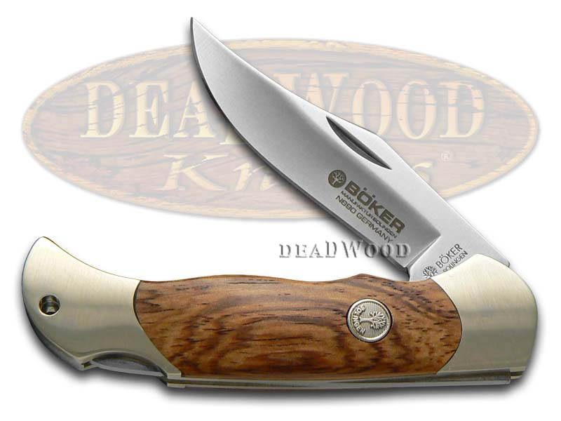 Boker Tree Brand Rosewood Boy Scout Lockback Stainless Pocket Knife Knives