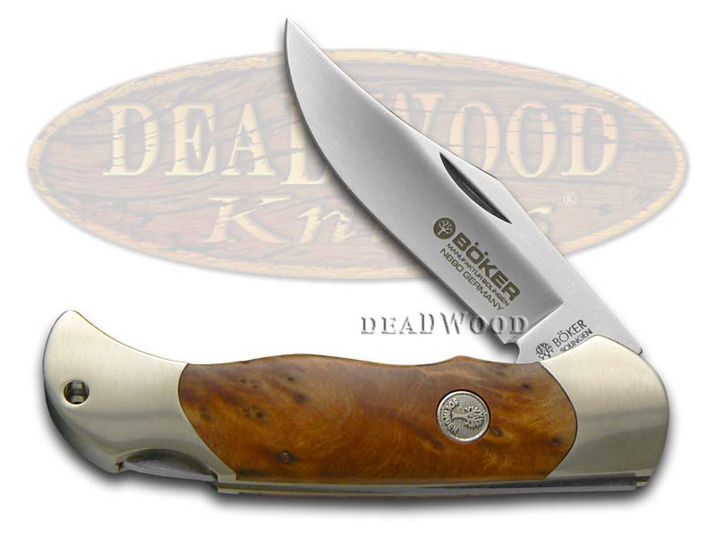 Boker Tree Brand Thuya Wood Boy Scout Lockback Stainless Pocket Knife Knives