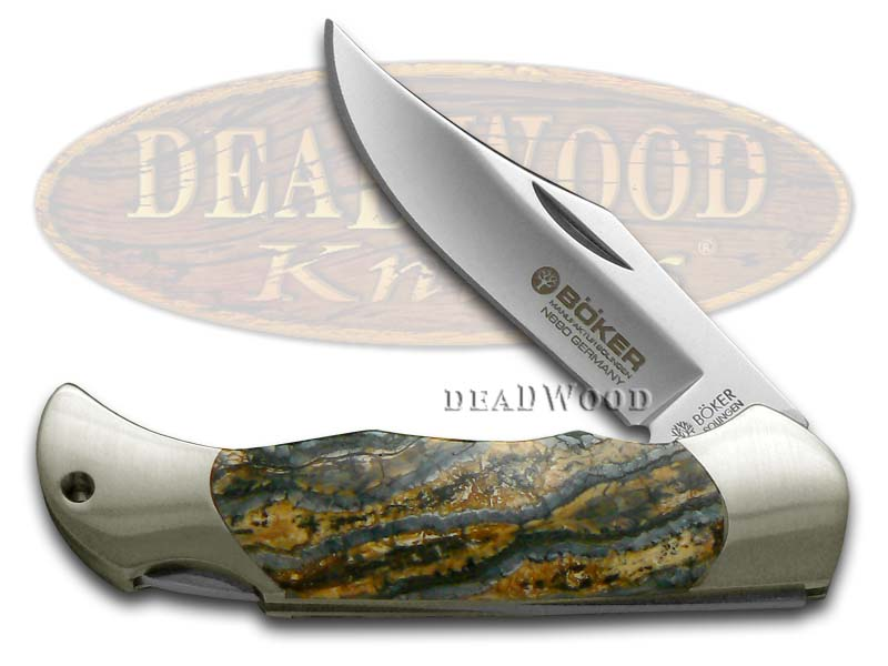 Boker Tree Brand Genuine Mammoth Tooth Boy Scout Lockback Stainless Pocket Knife Knives