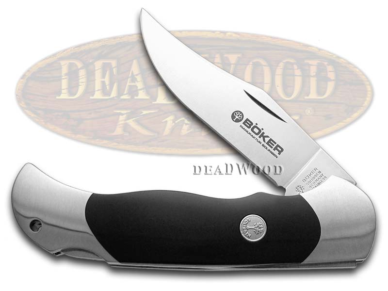Boker Tree Brand Black Delrin Lock Blade with Saw Pocket Knife Knives