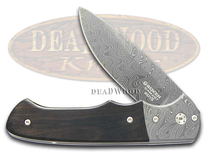 Boker Tree Brand 2015 Annual Damascus Grenadill Linerlock 1/999 Pocket Knife Knives