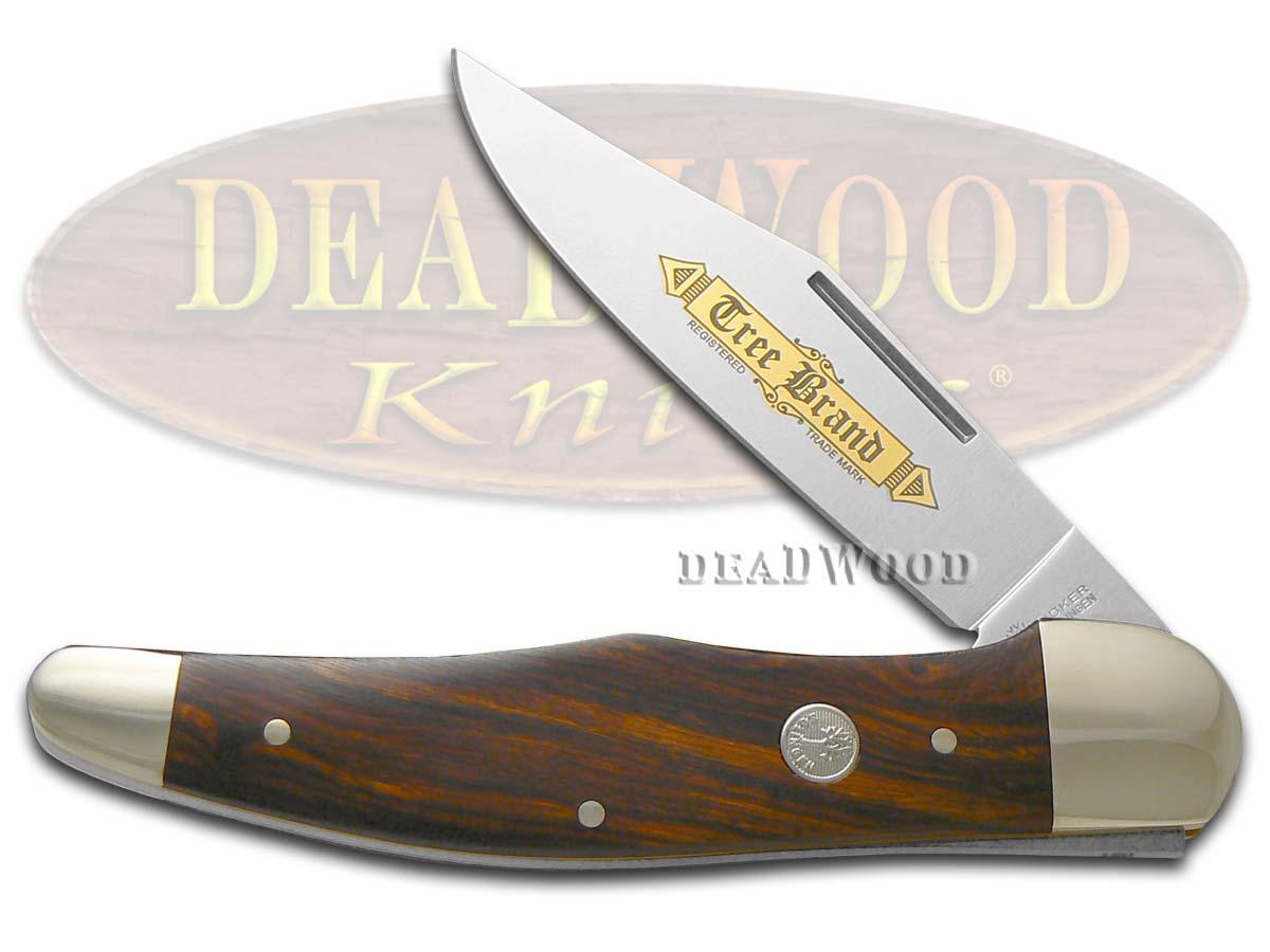 Boker Tree Brand Classic Gold Desert Iron Wood Folding Hunter Stainless Pocket Knife Knives
