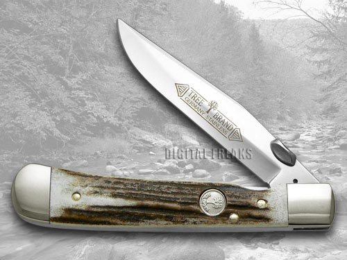 Boker Tree Brand Genuine Deer Stag Trapperliner Pocket