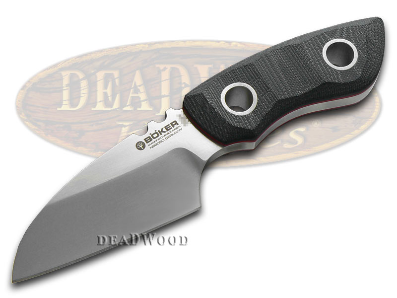 Boker Tree Brand Black Micarta Pry-Mate Fixed Blade Stainless Knife Knives