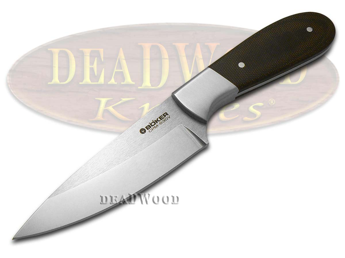 Boker Tree Brand Canvas Micarta Rocky Ridge Fixed Blade Hunter Stainless Knife Knives