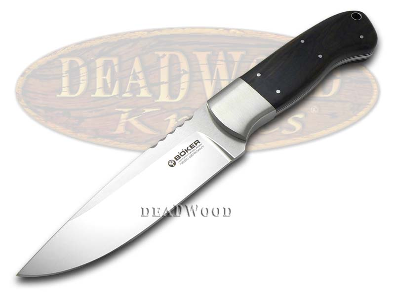 Boker Tree Brand Drikas Grenadill Wood Fixed Blade Hunter Stainless Knife Knives
