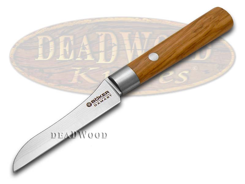 Boker Tree Brand Premium Kitchen Cutlery Olive Wood Damascus Vegetable Knife Knives