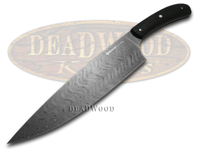 boker pure premium kitchen cutlery bog oak damascus chef s