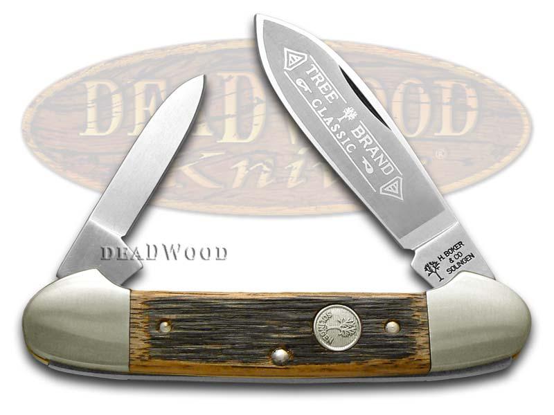 Boker Tree Brand Beer Barrel Wood Canoe Pocket Knife Knives