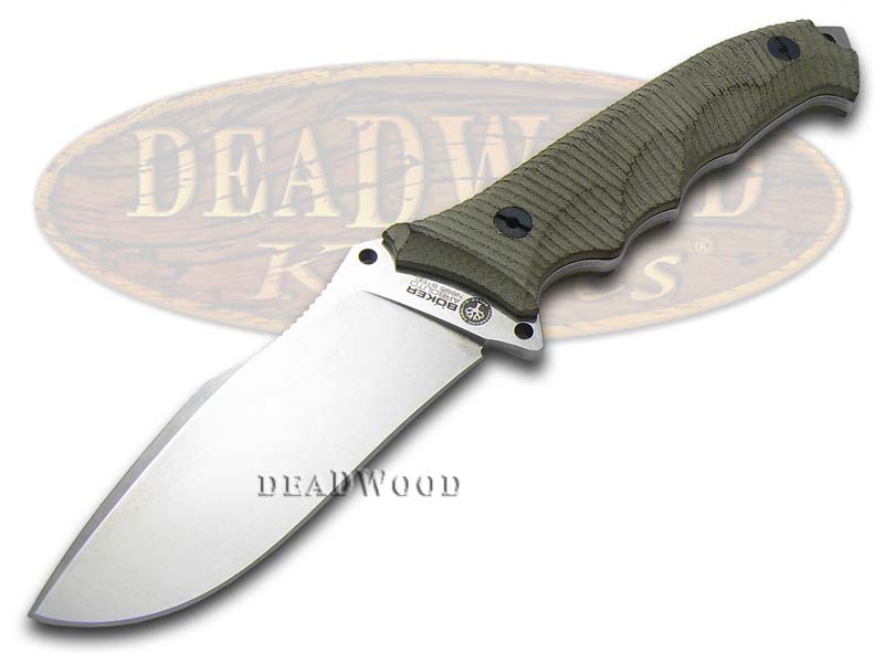 Boker Tree Brand Rough Green Micarta Buffalo Soul 42 Fixed Blade Stainless Knife Knives