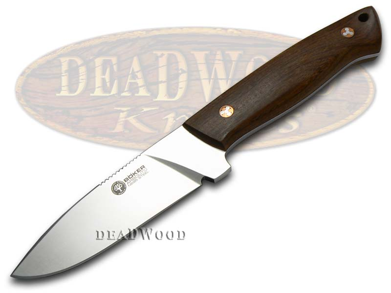 Boker Arbolito Guayacan Ebony Wood Dano Fixed Blade Stainless Knife Knives