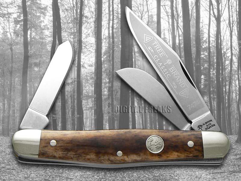 Boker Tree Brand Buckskin Bone Large Stockman Carbon Steel