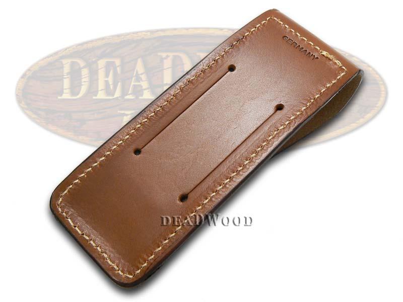 boker tree brand brown leather belt sheath for optima knife ebay. Black Bedroom Furniture Sets. Home Design Ideas