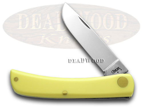 Case xx Yellow Synthetic Sodbuster CV Pocket Knife Knives