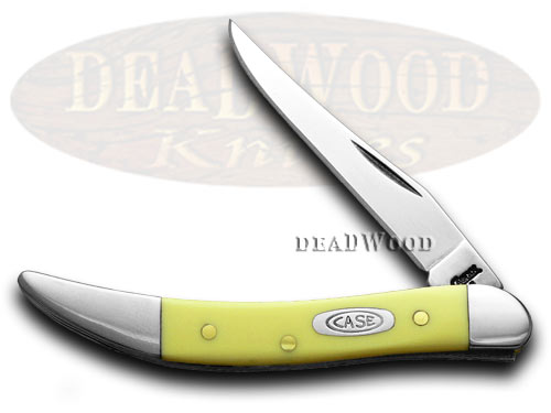 Case xx Yellow Synthetic Toothpick CV Pocket Knife Knives