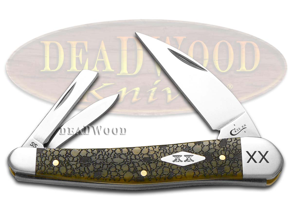 Case xx Lizard Skin Olive Green Bone Seahorse Whittler 1/500 Stainless Pocket Knife Knives