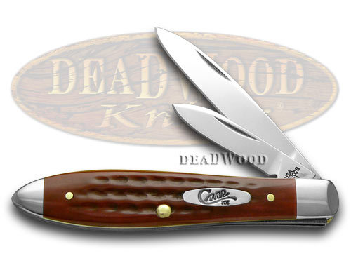 Case xx Old Red Bone  Stainless Tear Drop Jack Pocket Worn Knife Knives
