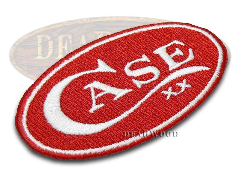 Case xx Knives Case Red Oval Logo Embossed Patch