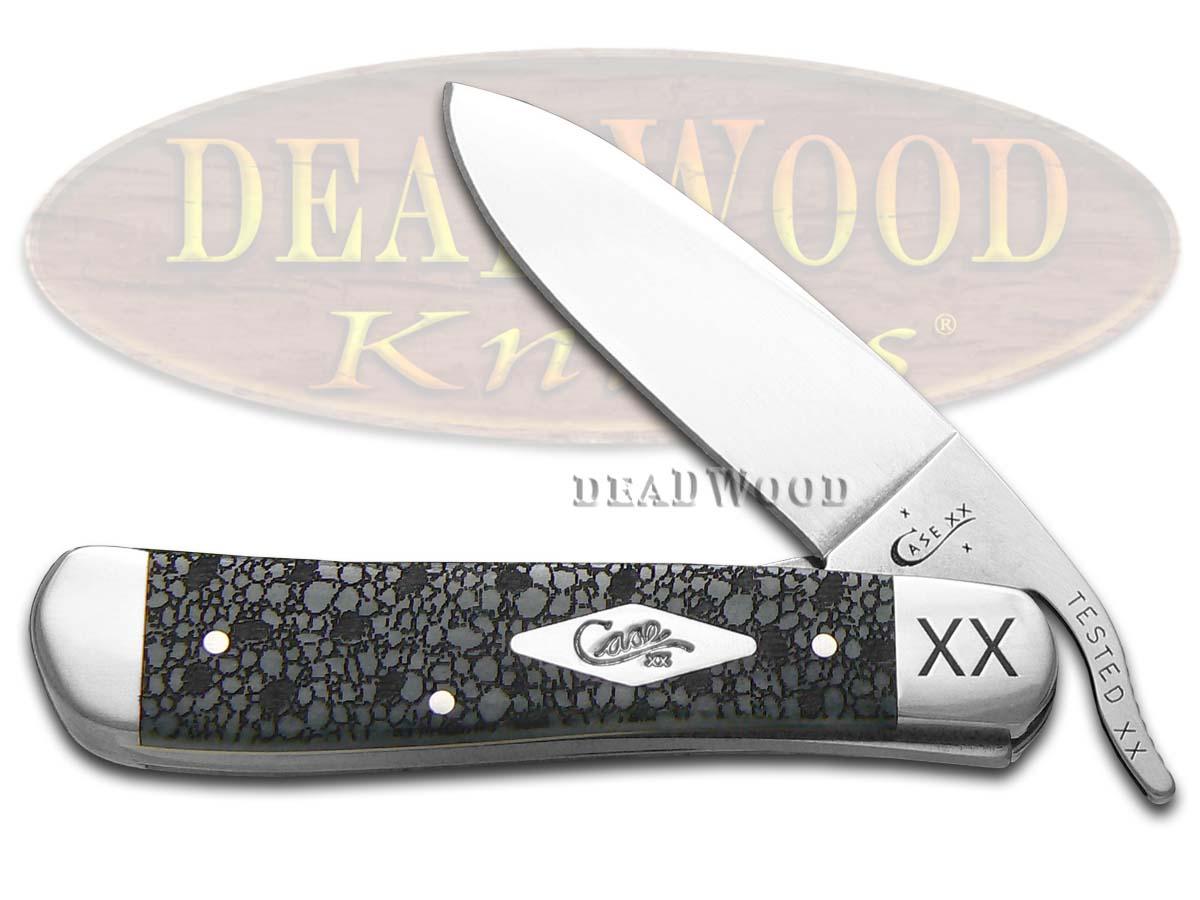 Case xx Lizard Skin Gray Bone Russlock 1/500 Stainless Pocket Knife Knives