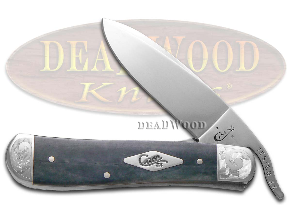 Case xx Scrolled Gray Bone Russlock 1/300 Stainless Pocket Knife Knives