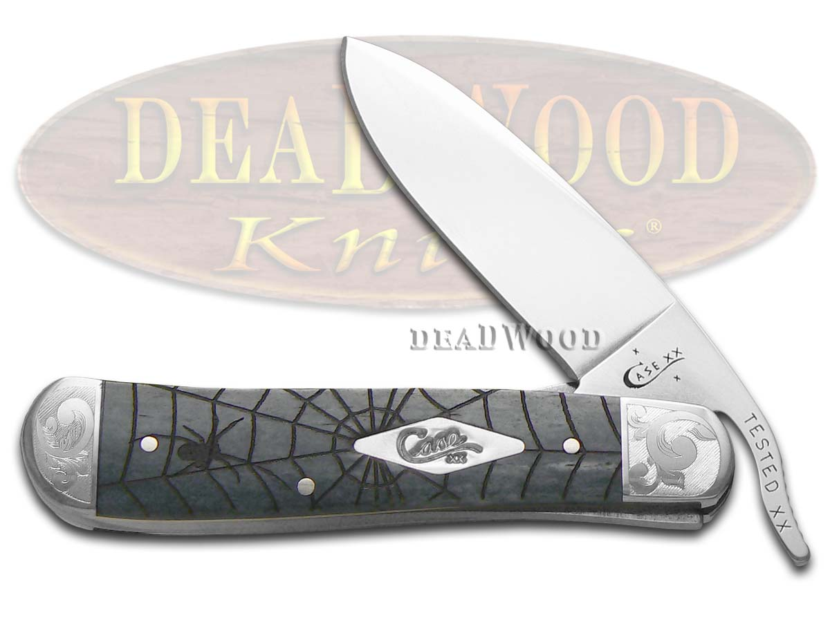 Case xx Scrolled Spider Web Gray Bone Russlock 1/500 Stainless Pocket Knife Knives