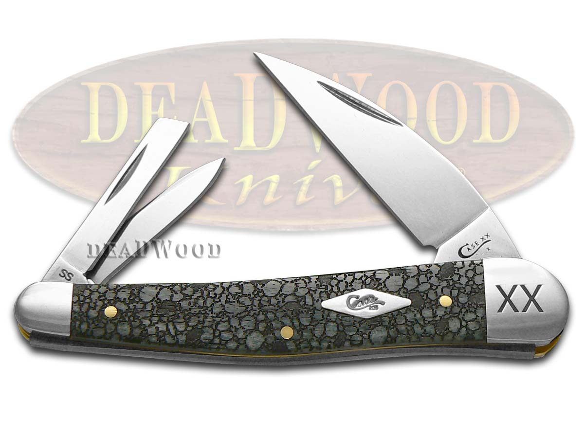 Case xx Lizard Skin Gray Bone Seahorse Whittler 1/500 Stainless Pocket Knife Knives