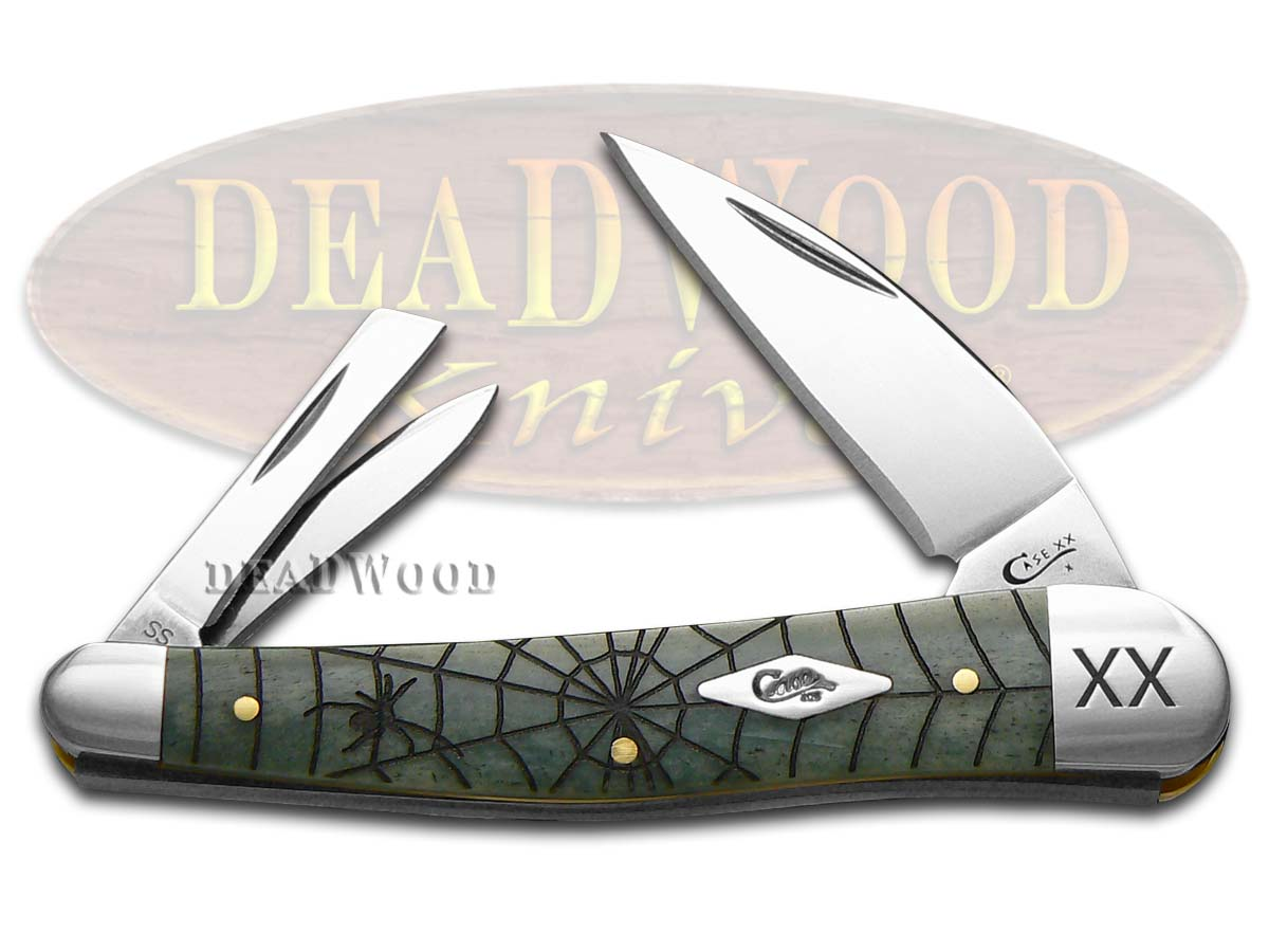 Case xx Spider Web Gray Bone Seahorse Whittler 1/500 Stainless Pocket Knife Knives