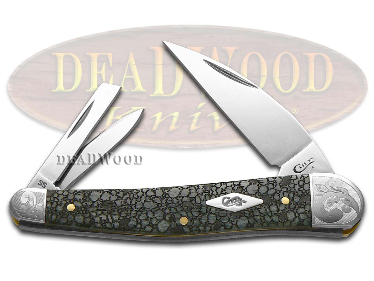 Case xx Lizard Skin Gray Bone Scrolled Seahorse Whittler 1/200 Stainless Pocket Knife Knives