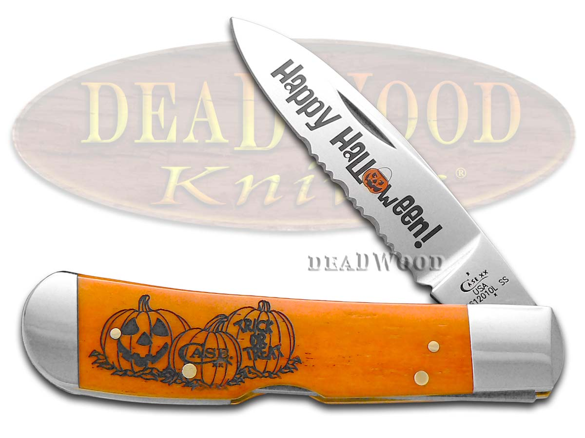 Case xx Halloween Trick or Treat Tribal Lock Stainless Pocket Knife Knives