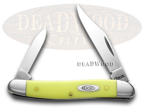 Case xx Yellow Synthetic Pen CV Pocket Knife Knives