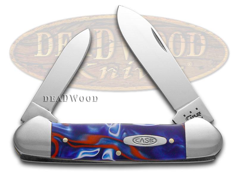 Case xx Smooth Kirinite Patriot Canoe Stainless Pocket Knife Knives