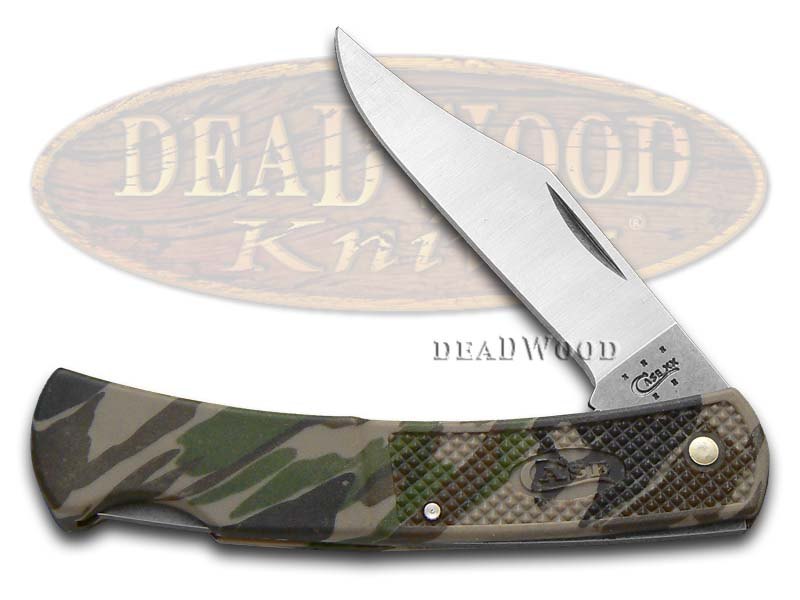 Case xx Camo Zytel Lockback Stainless Pocket Knife Knives