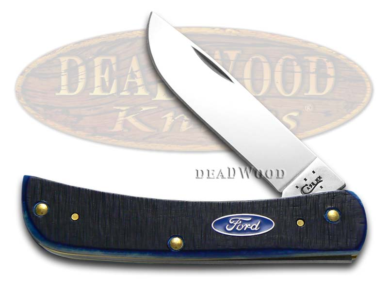 Case xx Ford Motor Company Blue Bone Sodbuster Jr Stainless Pocket Knife Knives