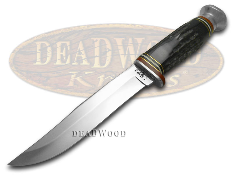 Case xx Genuine Buffalo Horn Fixed Blade Hunter Stainless Knife Knives
